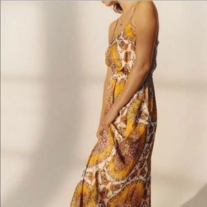 🆕 Anthropologie Akemi + Kin Medallion Maxi Dress